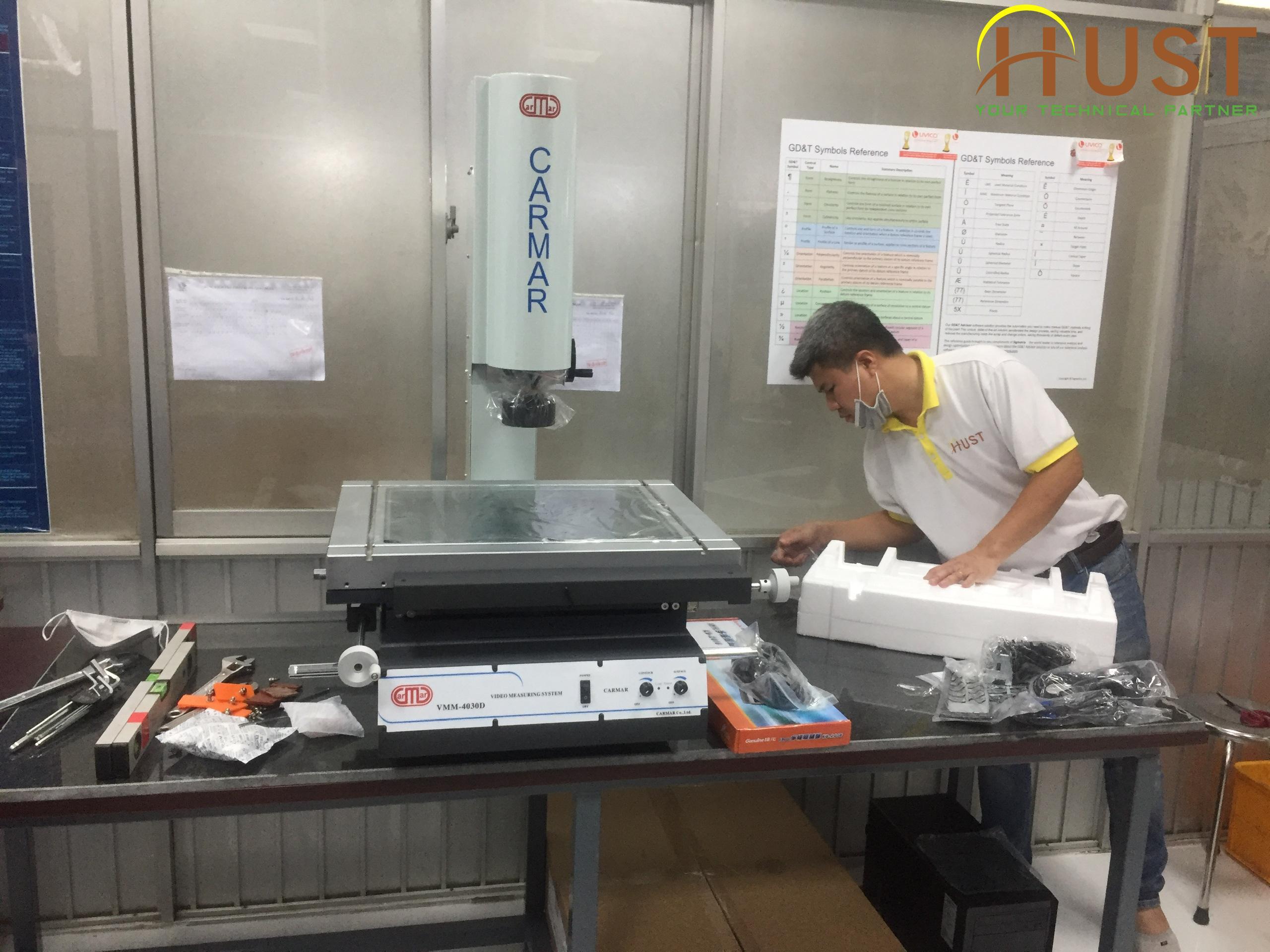 Lắp đặt hướng dẫn vận hành máy đo 2D (Video measuring machine)