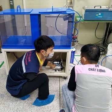Chuyển giao máy lọc nước DI VT-ST-D-100 tại KCN Quang Minh