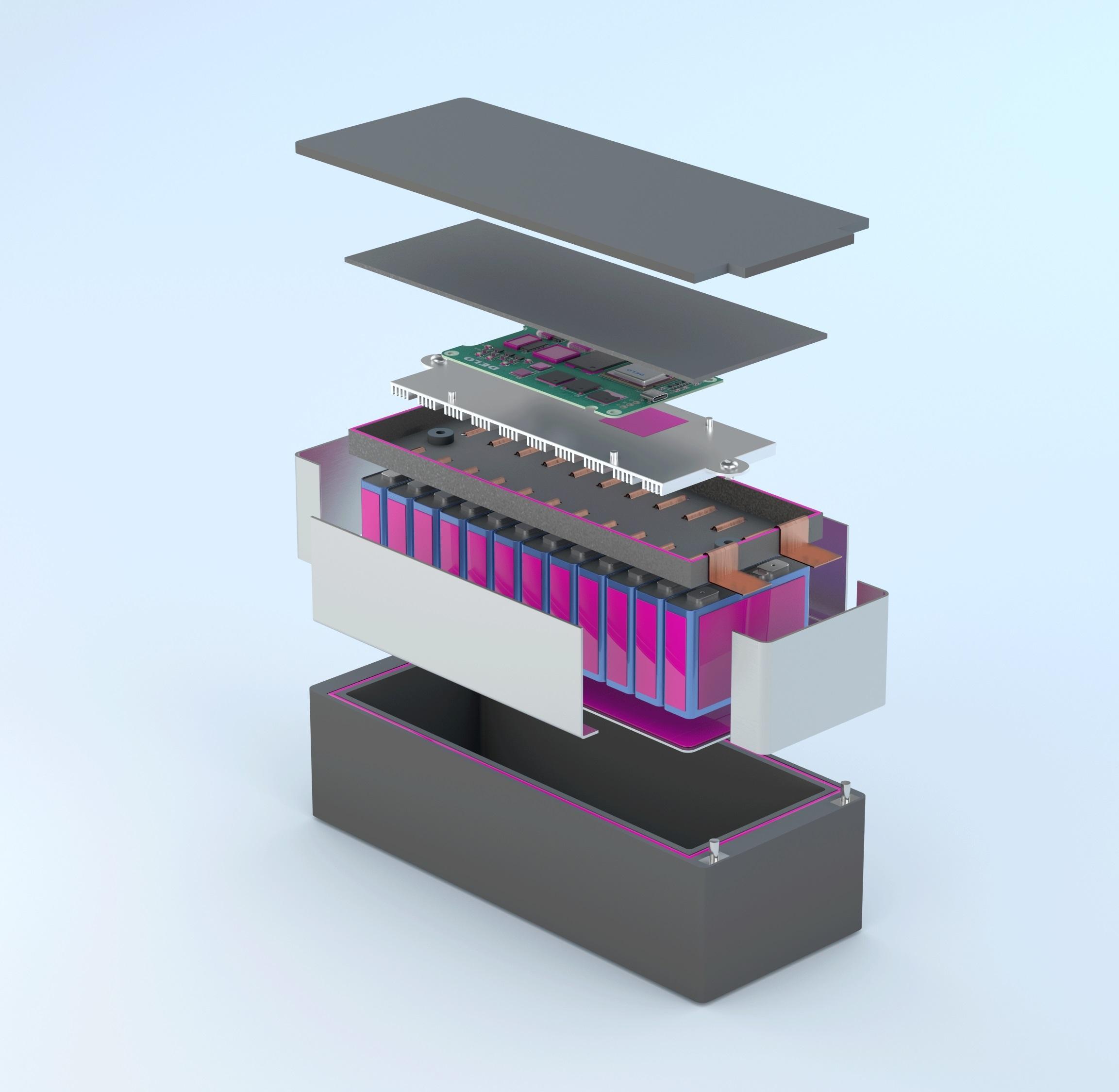 Keo dán tản nhiệt cho pin litium – ion trong xe điện: DELO-DUOPOX TC8686