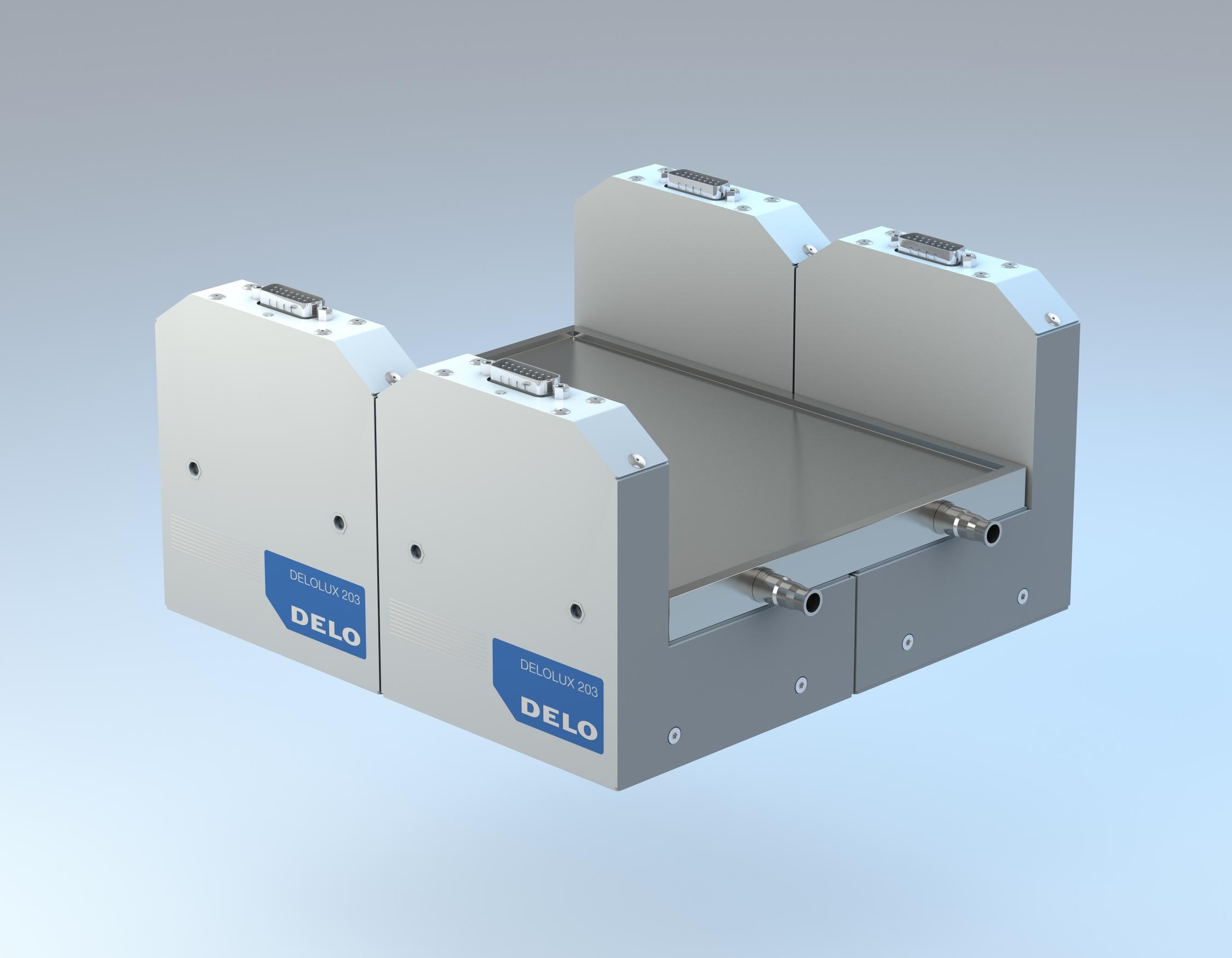DELO giới thiệu đèn sấy keo UV công suất lớn DELOLUX 203 cho phòng sạch