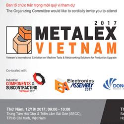 Triển lãm quốc tế Metalex Vietnam 2017 tại tp. Hồ Chí Minh